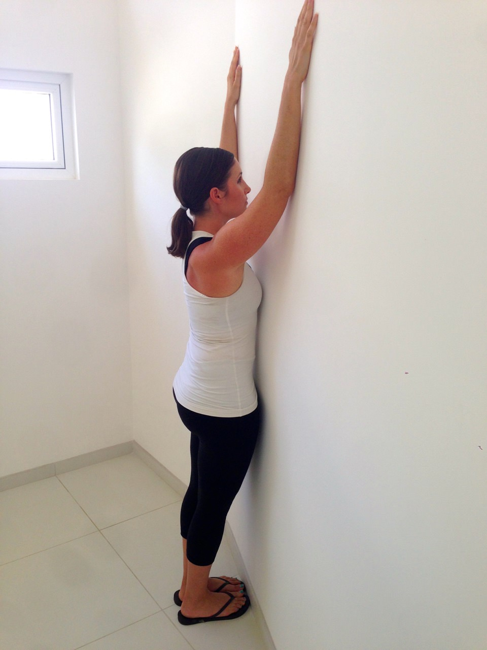 Fitness plan for beginners: forearm wall slides
